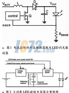 超级电容器解决高分辨率相机的led闪光电源问题