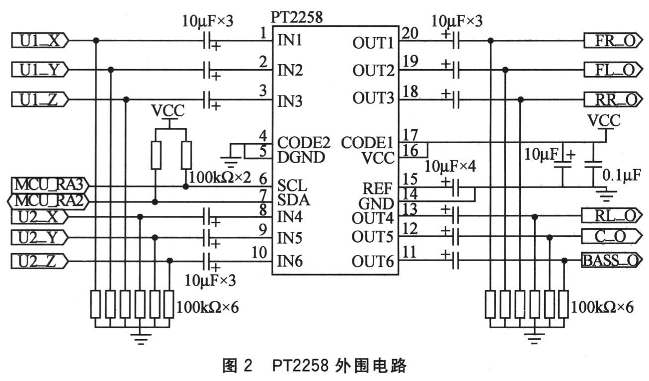 pt2258外围电路连接如图2所示