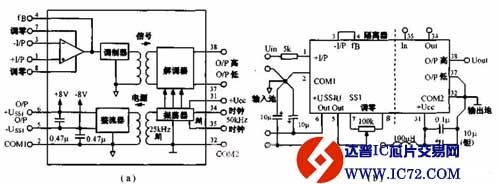 小型化隔离放大器电路图