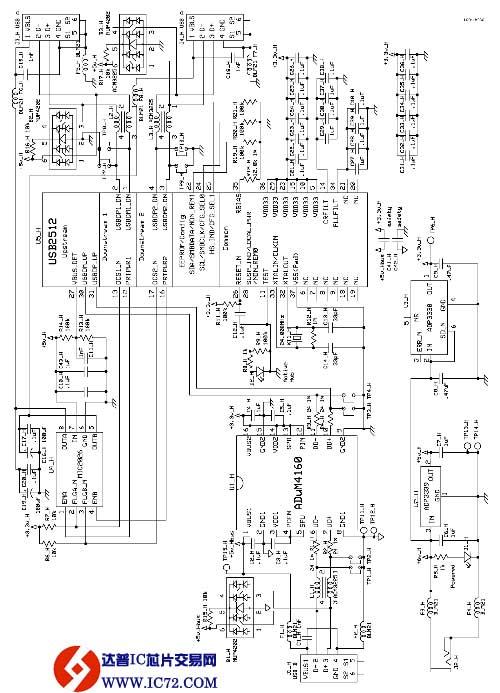 通用串行总线(usb)集线器隔离器电路