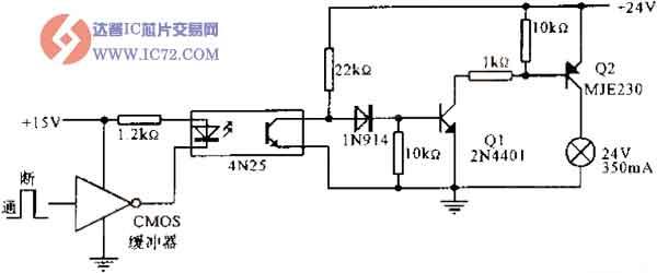 (LED),使之发出一定波长的光,被光探测器接收而产生光电流,再经过进一步放大后输出。这就完成了电—光—电的转换,从而起到输入、输出、隔离的作用。由于光耦合器输入输出间互相隔离,电信号传输具有单向性等特点,因而具有良好的电绝缘能力和抗干扰能力。又由于光耦合器的输入端属于电流型工作的低阻元件,因而具有很强的共模抑制能力。所以,它在长线传输信息中作为终端隔离元件可以大大提高信噪比。在计算机数字通信及实时控制中作为信号隔离的接口器件,可以大大增加计算机工作的可靠性。 光耦合器的主要优点是
