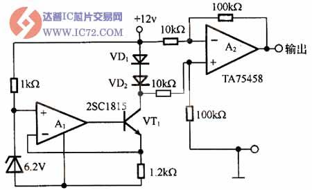 温度传感器应用电路图
