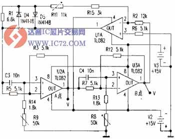 频率可调的正弦波发生器电路图