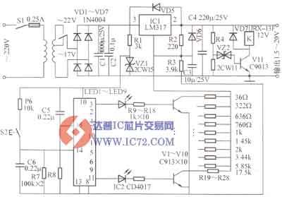 无触点可调稳压电源电路
