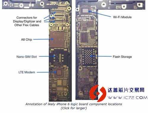 苹果5s主板无线图解