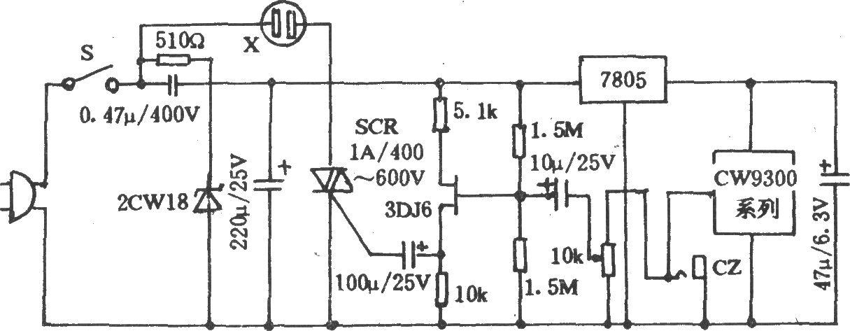 电风扇自然风控制电路(二)