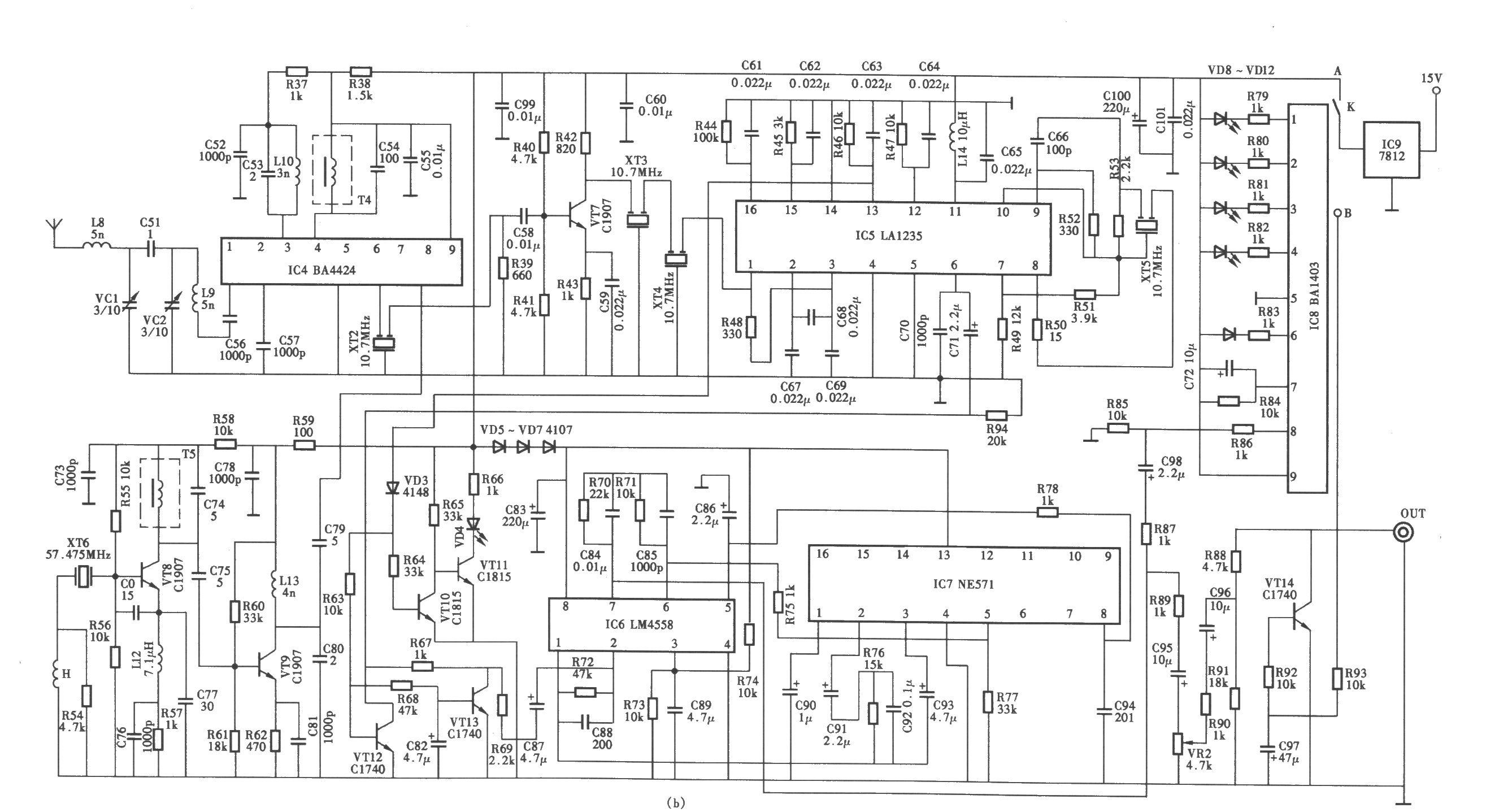 macsotmr700型无线话筒电路