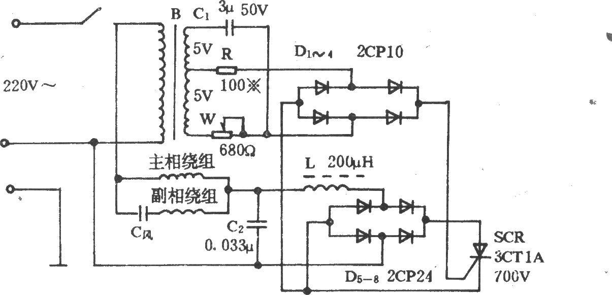 可控硅调速电路 - 电风扇
