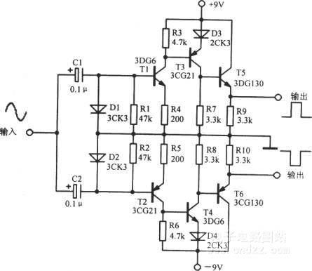 正弦波一方波转换电路