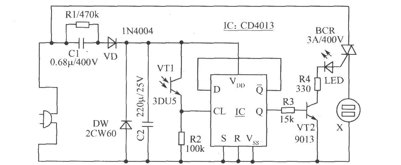 关机电路 - 光敏二极管
