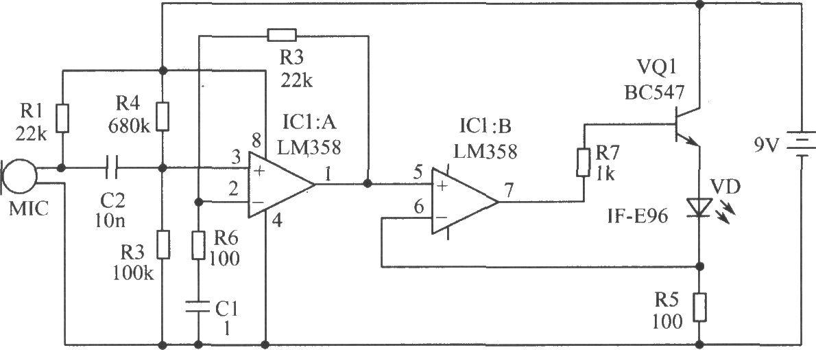 光纤传输语音电路 - 光敏二极管