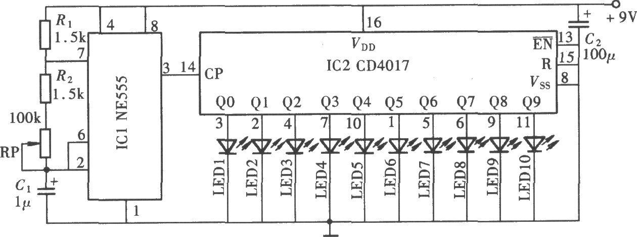 cd4017应用电路图