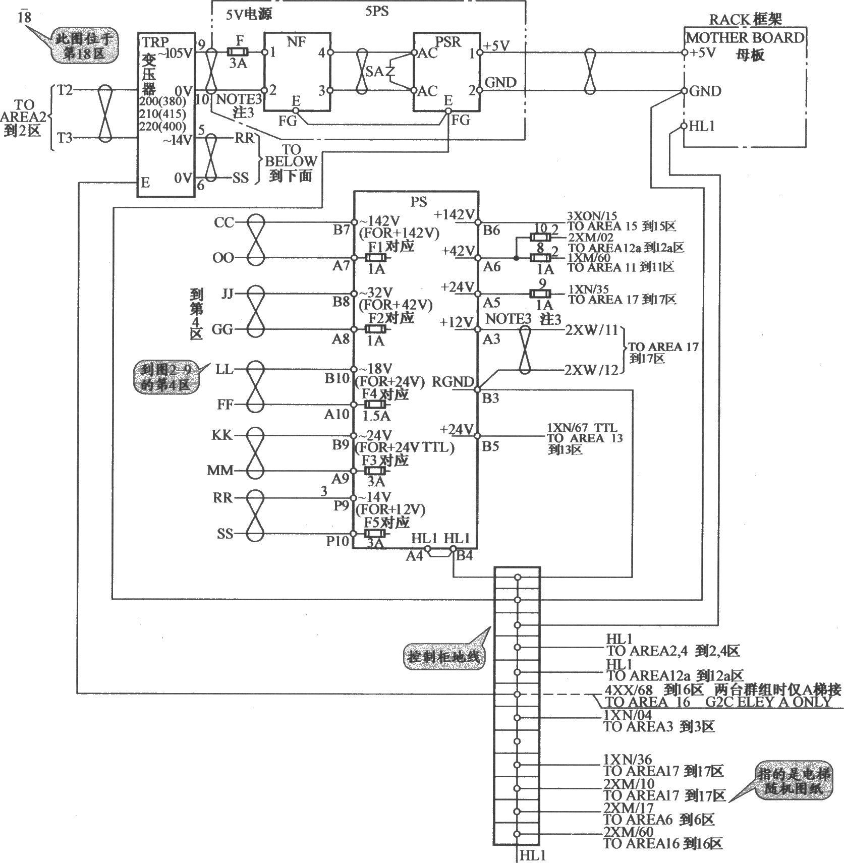 奥的斯toec-40电梯控制电源电路(2)
