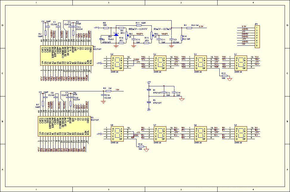 7107做的电压表电路(双表)