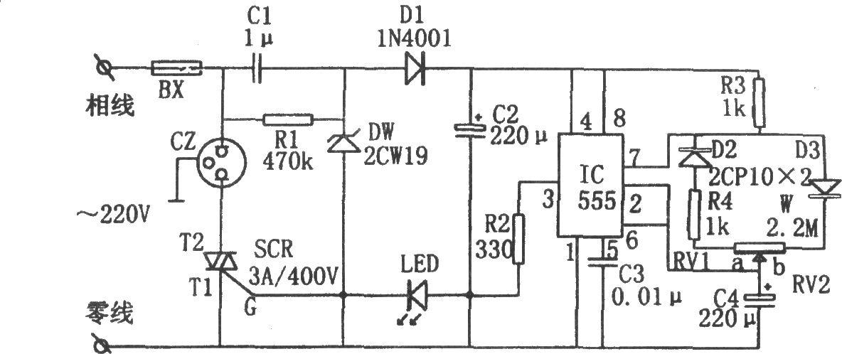 555构成的电源间歇控制器图片