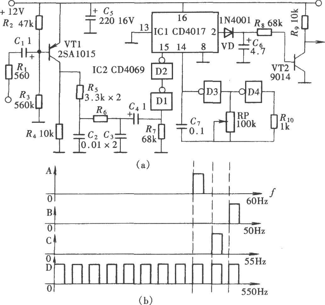 cd4017级联电路图
