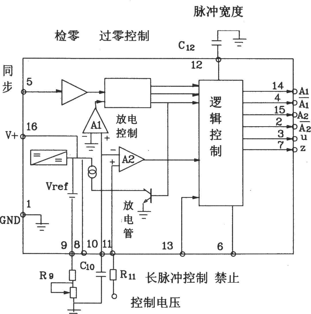 可控硅移相触发器kc785外电路连接图