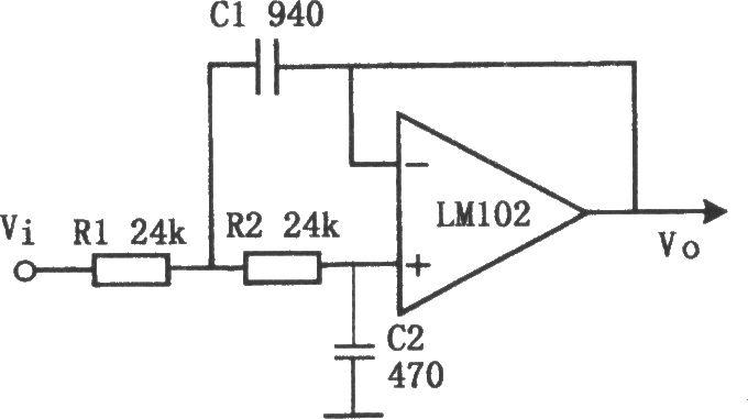 有源低通滤波器(lm102)