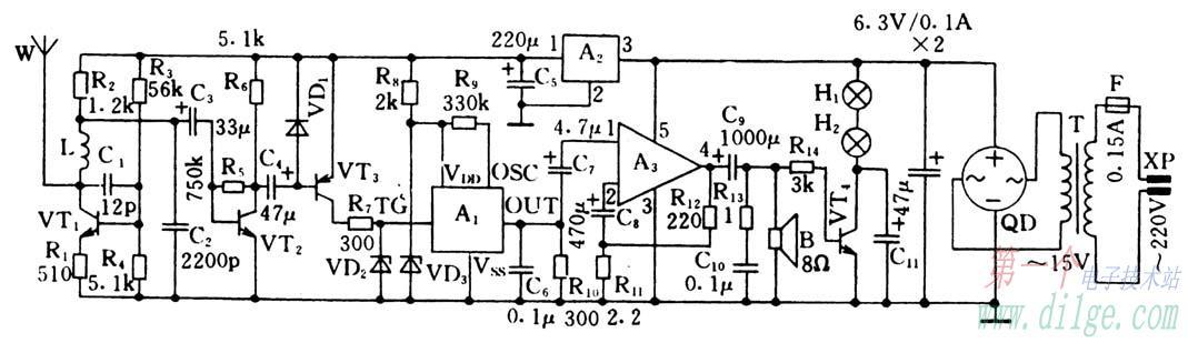 kd-5608型模拟狗叫声集成电路